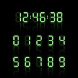 Sistema del número de reloj de Digitaces Figuras electrónicas Ilustración del vector Imágenes de archivo libres de regalías