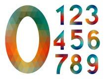 Sistema del número del mosaico Fotografía de archivo