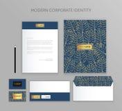 Sistema del negocio de la identidad corporativa Diseño moderno de la plantilla de los efectos de escritorio Documentación para el Imagenes de archivo