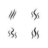 Sistema del olor del icono del aroma del vector de la corriente del humo Imagenes de archivo
