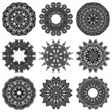 Sistema del ornamento del círculo, cordón redondo ornamental Fotos de archivo libres de regalías