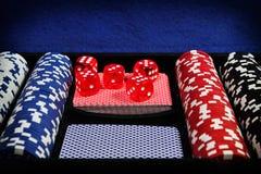 Sistema del póker Foto de archivo libre de regalías
