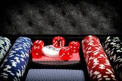 Sistema del póker Imagen de archivo libre de regalías