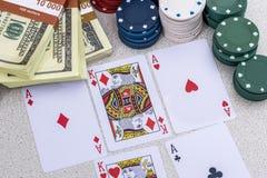 Sistema del póker Fotografía de archivo libre de regalías