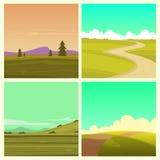Sistema del paisaje de la historieta Imagen de archivo libre de regalías