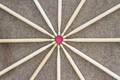 sistema del palillo del tambor Foto de archivo libre de regalías