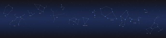 Sistema del panorama de la constelación Imagen de archivo libre de regalías