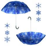 Sistema del paraguas de la Navidad fotos de archivo