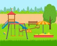 Sistema del patio de los niños Imagenes de archivo