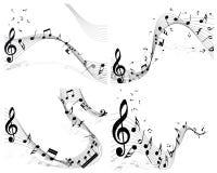 Sistema del personal de la nota musical libre illustration