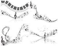 Sistema del personal de la nota musical stock de ilustración