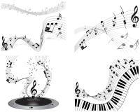 Sistema del personal de la nota musical ilustración del vector
