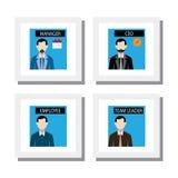Sistema del personal de oficina y gente de la gestión - vector los iconos Imagenes de archivo