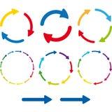 Sistema del pictograma de la flecha Icono simple del web del color en el fondo blanco Fotografía de archivo libre de regalías