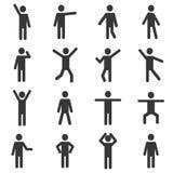Sistema del pictograma humano activo fotografía de archivo