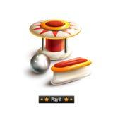 Sistema del pinball aislado Imagen de archivo libre de regalías