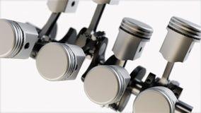 Sistema del pistón representación 3d Foto de archivo