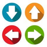 Sistema del plano de las flechas Fotografía de archivo libre de regalías