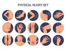 Sistema del plano de lesión del corte de la quemadura libre illustration