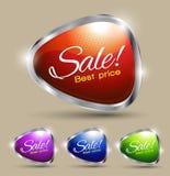 Sistema del precio del texto de la venta el mejor Fotos de archivo