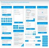 Sistema del profesional de formas y de elementos del web Fotografía de archivo libre de regalías