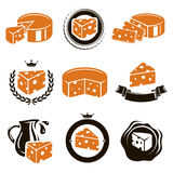 Sistema del queso. Vector Fotografía de archivo libre de regalías