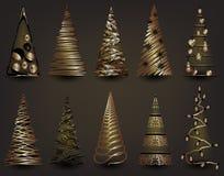 Sistema del árbol de navidad Imágenes de archivo libres de regalías
