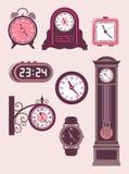 Sistema del reloj Imágenes de archivo libres de regalías