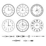 Sistema del reloj de pared ilustración del vector