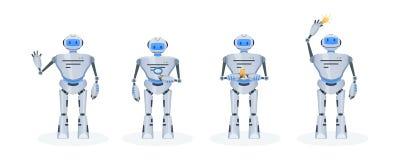 Sistema del robot electrónico moderno, bot de la charla Funcionamiento, educación, ayuda Imagen de archivo libre de regalías