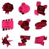 Sistema del rojo nueve de nuevo a insignias de escuela ilustración del vector