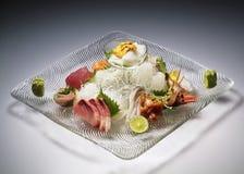 Sistema del sashimi de la variedad Imagen de archivo libre de regalías