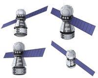 Sistema del satélite que está en órbita libre illustration