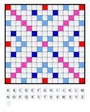 Sistema del Scrabble Fotos de archivo