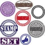 Sistema del sello de goma del Grunge Fotografía de archivo