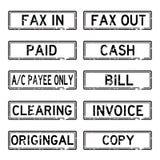 Sistema del sello de Grunged Imagenes de archivo