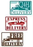 Sistema del sello de la entrega del vintage. Imagenes de archivo