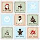 Sistema del sello de la Navidad Foto de archivo libre de regalías