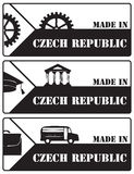 Sistema del sello hecho en República Checa stock de ilustración