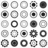 Sistema del sello negro del grunge Formas redondas Vector Fotografía de archivo