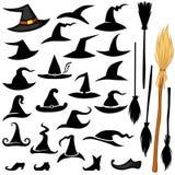 Sistema del sombrero de Halloween Foto de archivo libre de regalías
