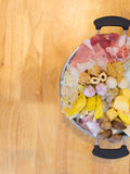 Sistema del suki de Shabu Shabu Foto de archivo libre de regalías