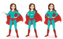 Sistema del Superwoman ilustración del vector