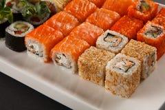 Sistema del sushi Fotos de archivo libres de regalías