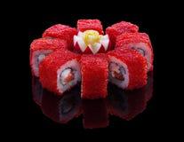 Sistema del sushi Imágenes de archivo libres de regalías