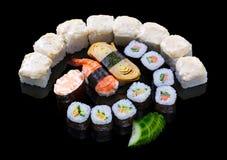 Sistema del sushi Imagen de archivo libre de regalías