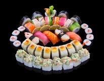 Sistema del sushi Fotografía de archivo