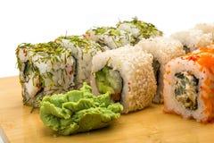 Sistema del sushi de Japón Fotografía de archivo libre de regalías