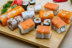 Sistema del sushi de Japón Foto de archivo libre de regalías