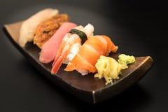 Sistema del sushi del Sashimi Foto de archivo libre de regalías